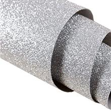 [From USA]Self Adhesive Silver Fine Glitter Wallpaper Peel and Stick Roll Spar