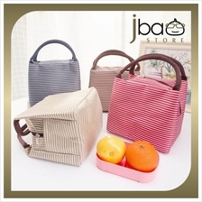 Stripe Insulated Thermal Cooler Bento Lunch Picnic Storage Bag