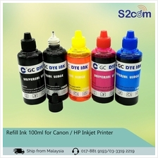 Refill Ink 100ml for Canon / HP Inkjet Printer