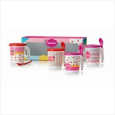 Tupperware Blushing Pink Mug Set (4)