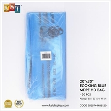 Disposable Plastic Garbage Bag Ecoking Kitchen Room Home Toilet 30pcs