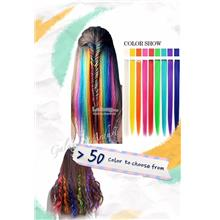 Hair Extension Color Easy Clip In,Dual Ombre Gradient High Heat Resist