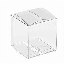 .US Wedding Favors Clear Boxes for Favors 3x3x3 25 Pack Clear PET Plastic Boxe