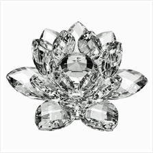 .Amlong Crystal 3 inch Clear Crystal Lotus Flower with Gift Box.