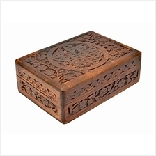 .New Age Source The Carved Wood Box Flower of Life (Standard Version) B008NQ1B