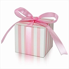 .KPOSIYA 70 Pack Candy Boxes Pink and White Striped Favor Boxes 2 x 2 x 2 inch