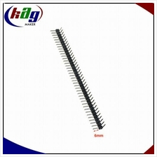 1*40 Pin Header Strip 2.54mm Right Angle (6mm)