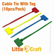 Cable Tie With Tag 3x100mm (10pcs/Pack) Red Yellow Blue Green