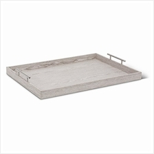 .Abbott Collection Butler Rectangular Tray Stone Grey (Extra-Large).