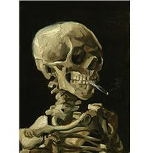 .Palace Learning Vincent Van Gogh (Skull with Cigarette 1885) Art Poster Print