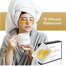 [USA Shipping]Matkas 24K Gold Eye Treatment Masks - Under Eye Patches Dark Cir
