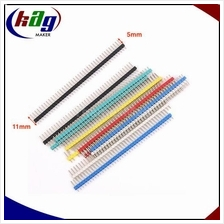 1*40 Pin Header Strip 2.54mm Multicolor (5mm)