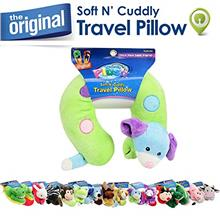 [From USA]Cloudz Soft N' Cuddly Travel Pillow Plush Multi Color Dog