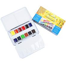 [Free shipping]Sennelier L'Aquarelle French Watercolor Paint Metal Box Pocket