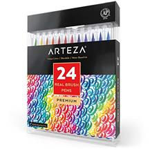 [Free shipping]ARTEZA Real Brush Pens 24Colors for WatercolorPainting withFlex