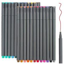 [Free shipping]24 Fineliner Color Pens Set Taotree Fine Line Colored Sketch Wr