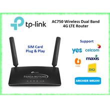 TP-Link AC750 Wireless Dual Band 4G LTE Router (Archer MR200)