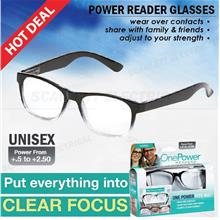 UNISEX Power Reader Glasses Spectacles Clear Vision Focus +.5 to +2.50