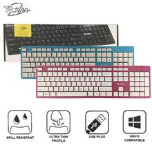 TCSTAR Wired USB Chocolate Keyboard (K518)