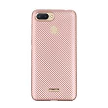 Cover Case for Xiaomi Redmi 6 Carbon Silicone Rubber Soft TPU (Rose Gold)