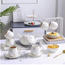 English Afternoon Tea Set Coffee with Saucer Set with Tray Cup Holder