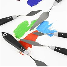 [Free shipping]Tavolozza Palette Knife with Comfort Grip Set 5 pcs Rubber Hand