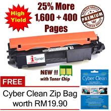 HP 30A CF230A with Chip + 25% Extra Yield + FREE Cyber Clean Zip Bag
