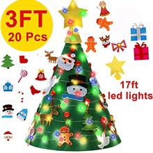 [USA Shipping]3 Ft Felt Christmas Tree for Toddler Kids - 3D DIY Christmas Tre