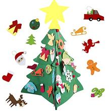 [USA Shipping]Pannow 2.3 Ft Felt Christmas DIY Felt Tree for Toddler Kids 3D D