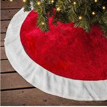 [USA Shipping]Ivenf Christmas Tree Skirt 48 inches Large Plush Mercerized Velv