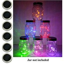 [USA Shipping]6 Pack Mason Jar Lights 20 LED Solar Multi-Colored Fairy String