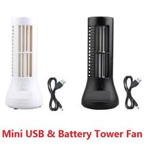 Mini Tower Fan Bladeless USB Fan Connect USB Port Or Battery Operated