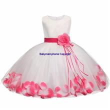 High Quality Tutu Petal Flower Baby Infant Toddler Wedding Party Dress