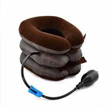 Medical Care and Health Pneumatic Cervical Traction Device of Spine (Brown)