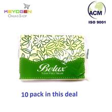Keyogen Large Natural Pulp Travel Pack Tissue 14cmx19cm (50'sx10 pack)