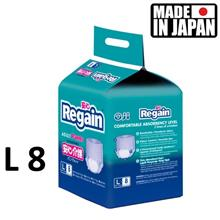 Made in Japan - Oji Regain adult diaper L 8 premium slim breathable
