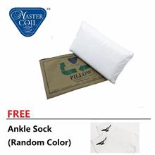 Free delivery Mastercoil Synthetic Latex Pillow FREE Ankle Sock