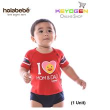 ( flash sale ) Holabebe Baby Romper I Love Mom & Dad R583