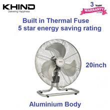 Khind FF2001 20'' with 3 Speed Control Floor Fan (Stainless Steel)