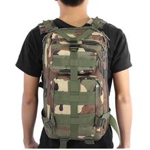 3P MILITARY TACTICAL 30L OXFORD BACKPACK FOR CAMPING TRAVELING (JUNGLE CAMOUFL