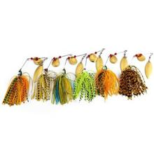 6 PCS FISHING LURE SPINNER BUZZ BAIT FOR BASS CRANK (COLORMIX)