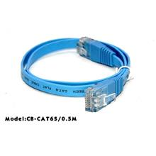 HIGH QAULITY COLOR RJ45 UTP CAT6 GIGABIT NETWORK FLAT CABLE 0.5M