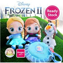 Aoger Disney Frozen 2 Princess Anna Elsa Olaf Sling Bag Soft Plush Toy
