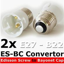 2 of ES - BC lighting Convert Lamp Holder Adapter B22 to E27 DIY