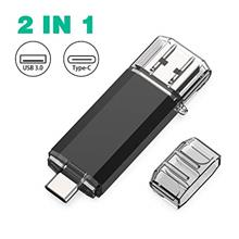 [From USA]Sanfeya Flash Drive 128GB USB C USB Flash Drive Dual Type C USB 3.0