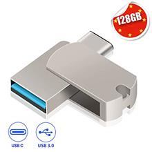 [From USA]EASTBULL 128GB USB C Flash Drive 2 in 1 Ports Type C and USB 3.0 Met