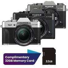 Fujifilm X Series XT30 Mirrorless Digital Camera with 18-55mm Lens Complimenta)