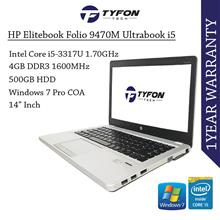 HP Elitebook Folio 9470M Ultrabook i5 4GB RAM 500GB HDD Win 10 Laptop