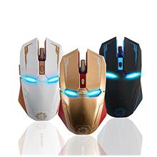 [From USA]2.4 GHz Wireless Iron Man MouseSlim Silent Ergonomic Optical Mice wi