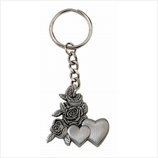 MSP38269 - Pewter Key Chain - Roses & Hearts